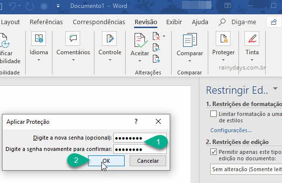 Como restringir edição de documento do Word