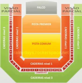 mapa de assentos hsbc arena rio de janeiro