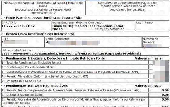 extrato INSS IRPF
