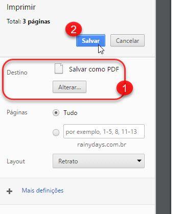 Salvar como PDF no Chrome