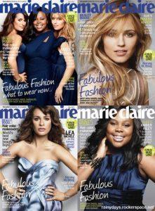 As Meninas de Glee na Capa da Marie Claire (Fotos, Vídeo)
