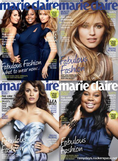 As meninas de Glee na capa da Marie Claire