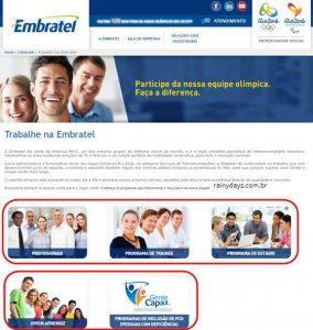 Trabalhe Conosco Embratel (Enviar Currículo, Vagas)