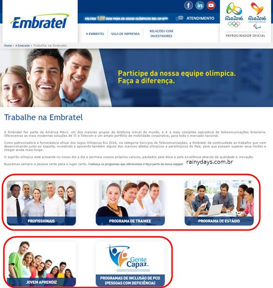 Trabalhe Conosco Embratel