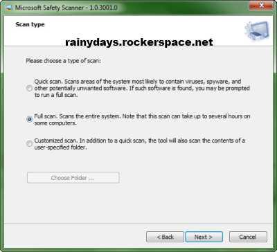 Microsoft Safety Scanner verificar malware no computador