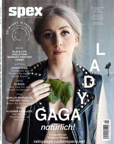 Lady Gaga sem maquiagem capa da Spex