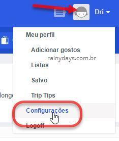 ícone nome Configurações Foursquare