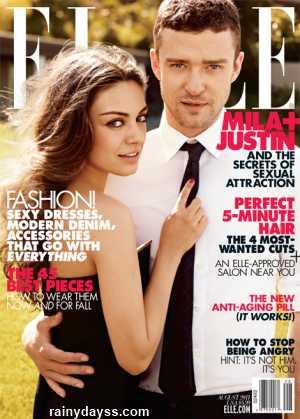 Mila Kunis Justin Timberlake revista Elle