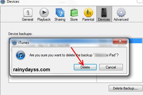 como excluir arquivos de backup do iphone 3