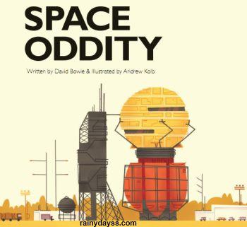 Disco Space Oddity do David Bowie como Livro Infantil