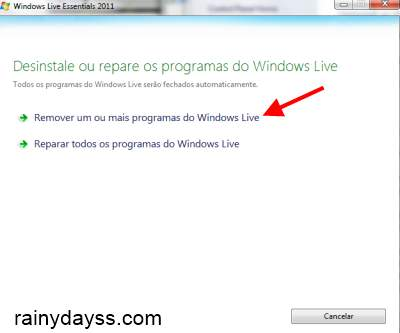 Como Desinstalar Programas do Windows Live Essential 3
