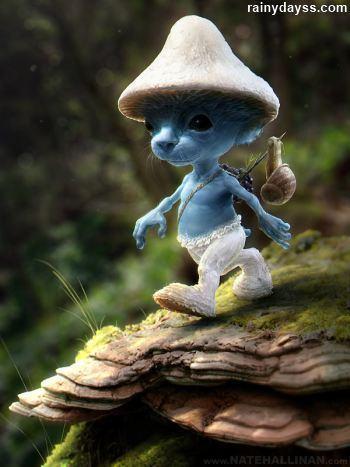 Como seriam os Smurfs se fossem reais