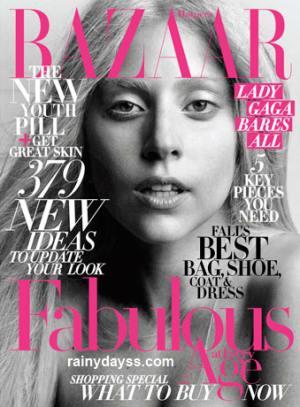 Lady Gaga sem maquiagem na Harper