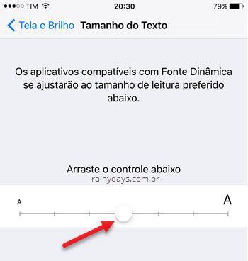 Como aumentar o tamanho da letra no iPhone ou iPad