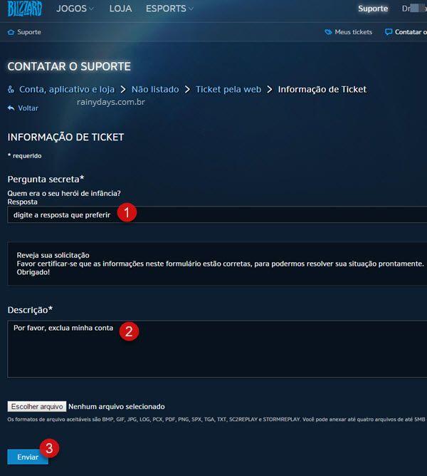 Como cancelar conta Blizzard ex-Battle.net