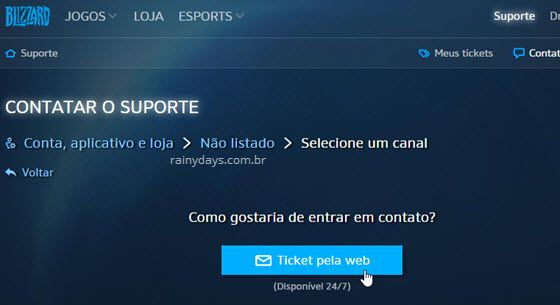excluir conta da Blizzard Battle.net