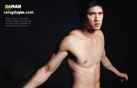 Mike Chang de Glee na revista Da Man