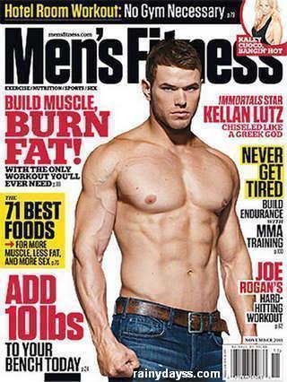 Kellan Lutz e seus músculos na capa da Men's Fitness