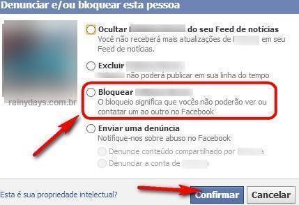 bloquear pessoa no Facebook 2