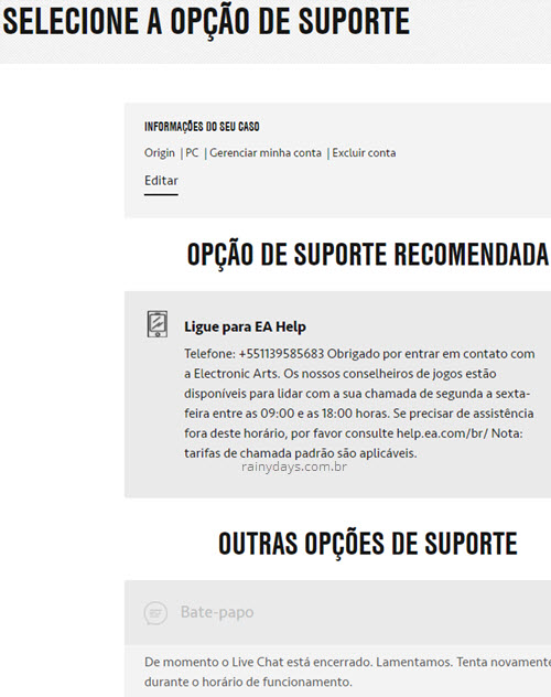 Como excluir conta da Origin permanentemente