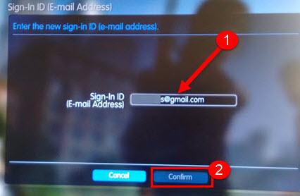 Como mudar email da PSN, imagem mostrando o campo para digitar
