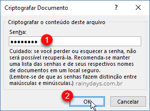 Criptografar documento com senha Word, Power Point e Excel