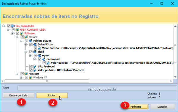 Excluir itens do registro com Revo Uninstaller