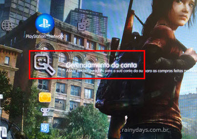 Gerenciamento de conta PSN PS4