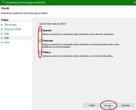 Como abrir portas no firewall do Windows 5