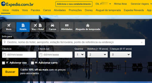 Como excluir conta do Expedia permanentemente