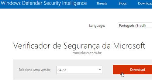 download verificador de segurança Microsoft