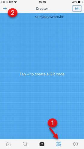 QR Reader para iPhone escanear e criar código QR