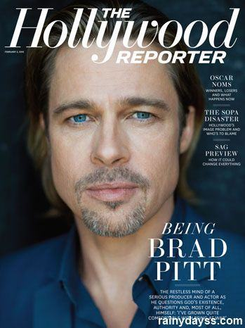 Brad Pitt capa da The Hollywood Reporter