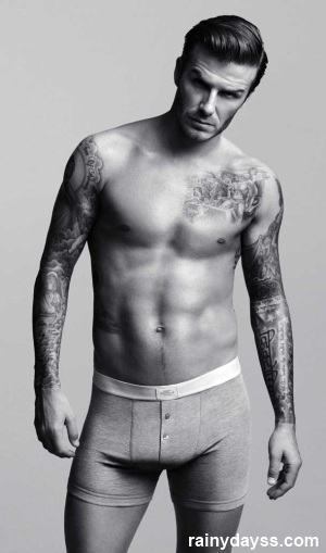David Beckham de Cuecas H&M