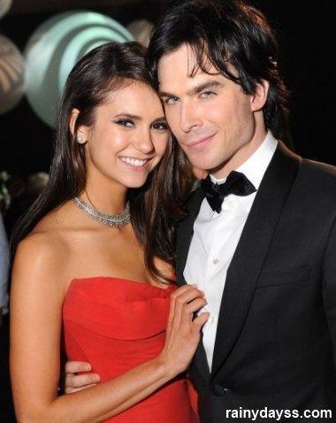Damon e Elena de Vampire Diaries