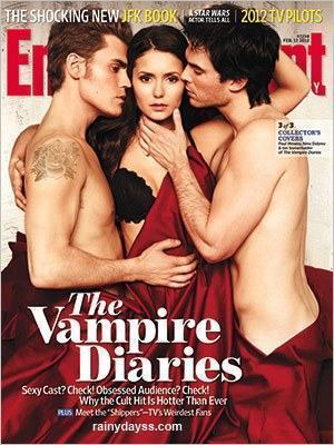 Elenco de Vampire Diaries Sexy na Capa da EW
