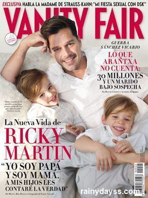 Ricky Martin Carlos e Filhos Vanity Fair