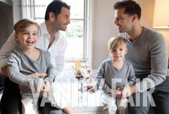 Ricky Martin, Carlos e filhos gêmeos Vanity Fair