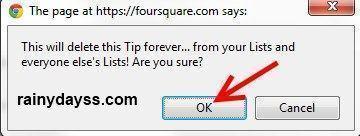 Como Excluir Dicas do Foursquare 2