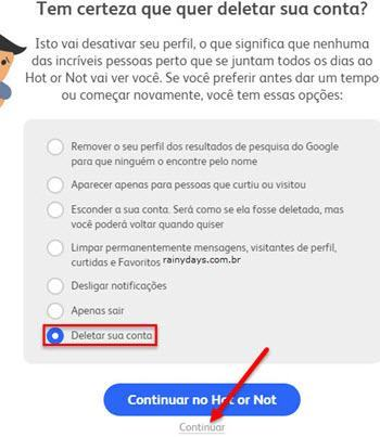 Como cancelar conta do Hot or Not 4
