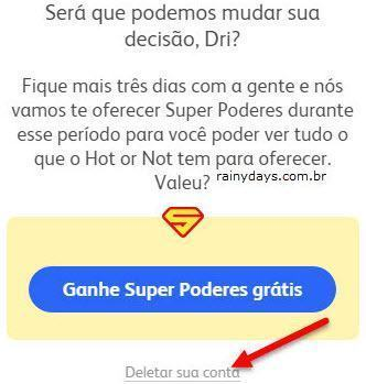 Como cancelar conta do Hot or Not 5