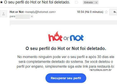 Como cancelar conta do Hot or Not 8