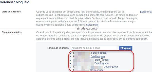 Como desbloquear amigo no Facebook