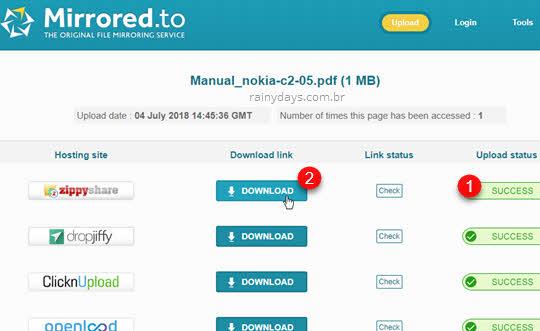 Como fazer download no Mirrored.to botão download
