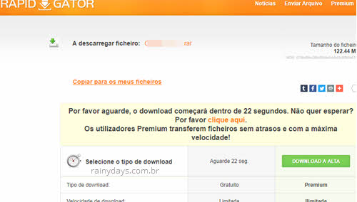 Como fazer download no Rapidgator