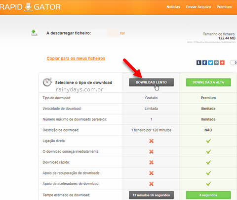 Download lento Rapidgator baixar