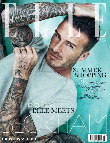 David Beckham primeiro homem Capa Elle UK