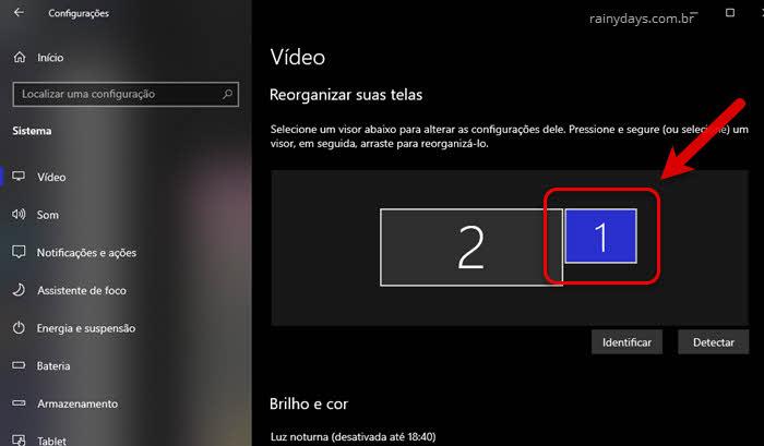 Reorganizar telas para configurar vários monitores no Windows