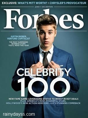 Justin Bieber na Forbes 1