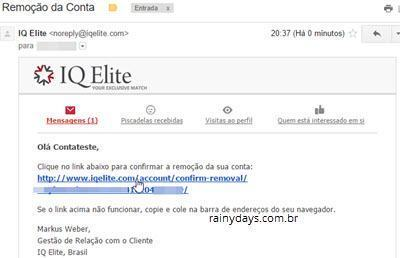 excluir conta do IQ Elite 2